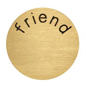 Picture of 'Friend' Large Gold Coin